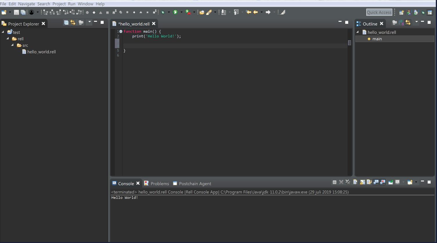 Development update: New Rell IDE