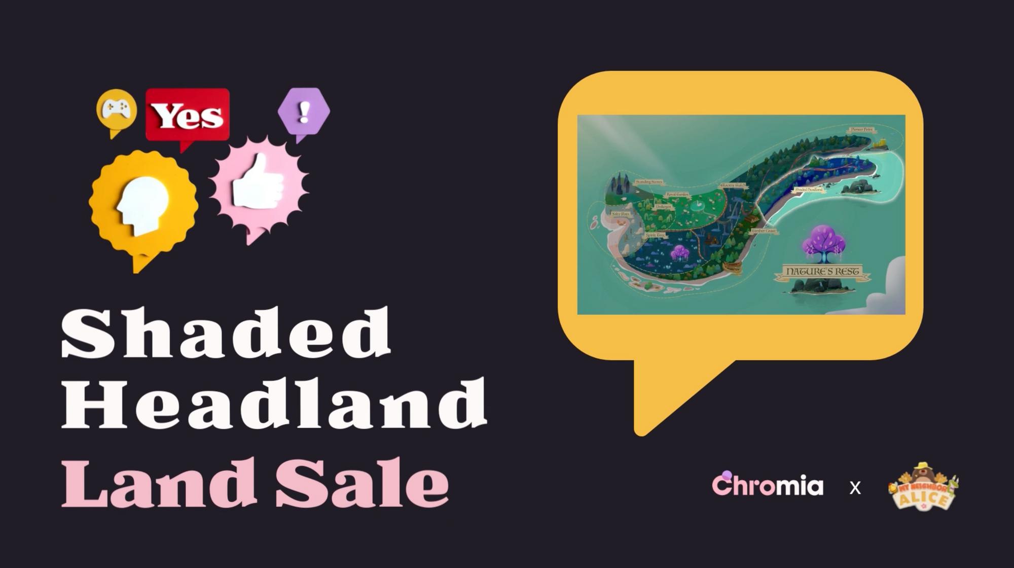 My Neighbor Alice Announces Second Land Sale - Shaded Headland